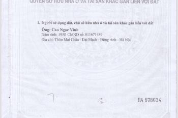 Bán 2 mảnh đất thôn Sáp Mai, xã Võng La, Đông Anh, Hà Nội gần trường học, bệnh viện. LH 0912414323