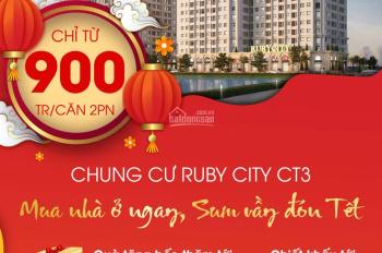 Sở hữu nhà Hà Nội không hề khó vì đã có Ruby City CT3 - 19tr/m2, chiết khấu 8% giá trị căn hộ