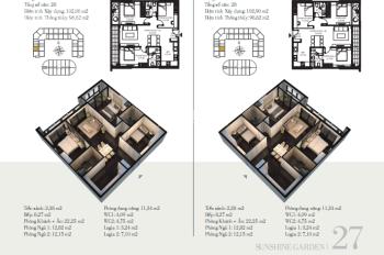 Căn 3 PN cho thuê 10 triệu đồ cơ bản, tại chung cư cao cấp Sunshine Garden liền kề Times City