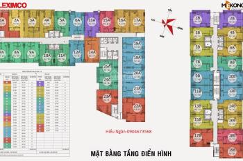 Bán căn hộ 1205 chung cư Gemek Tower, diện tích 75m2, giá 16tr/m2. LH: 0904516638