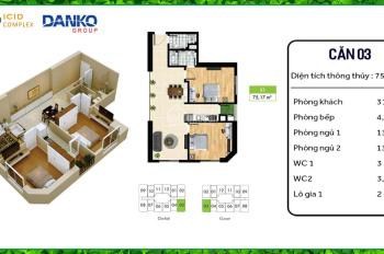 Chính chủ cần bán căn hộ CT2 chung cư ICID Complex - Lê Trọng Tấn - Hà Đông. LHCC 0979239175