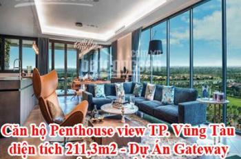 Căn hộ Penthouse view TP. Vũng Tàu, diện tích 211,3m2 - Dự Án Gateway - Giá gốc Chủ Đầu tư 5,3 tỷ
