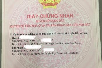 Vợ chồng có lô đất nền cần bán chính chủ, thổ cư 100% - xã Minh Long, Chơn Thành