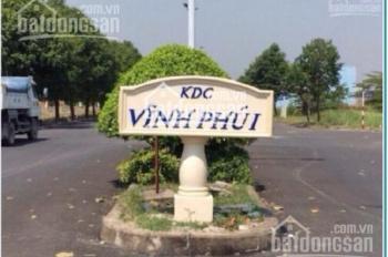 Tôi cần bán lô đất khu dân cư Vĩnh Phú 1, Thuận An, sổ riêng, giá: 1tỷ150/80m2 LH: 0932791118