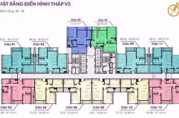 Cần tiền gấp nên chấp nhận cắt lỗ căn hộ tại tòa V2 The Terra, căn 3 ngủ view triệu đô tầng 12.