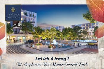 Chỉ từ 5,1 tỷ sở hữu Shophouse The Manor, CK ngay 12%, HTLS 0% trong 36 tháng, mở bán 14.12 bốc Mer