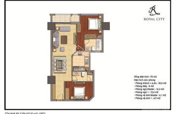 Chính chủ bán căn hộ Royal City toà R5 93m2 - Giá bán 4 tỷ - LH: 0939 58 5599