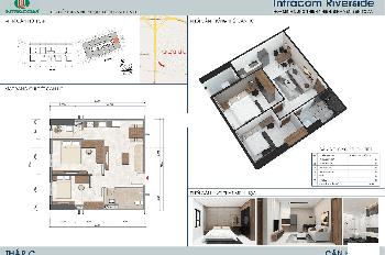 LH:0962251630..Cần bán gấp căn hộ 07 tòa C,chung cư Intracom Đông Anh,DT:54m2,giá bán 21,5 triệu/m2