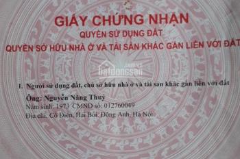 Bán 80m2 đất thổ cư chính chủ, đường to trước mặt 7m, cách cầu Thăng Long 500m tại xóm mới Võng la