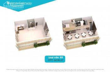 Cho thuê nhiều căn shophouse Saigon gateway, DT từ 63-90 m2, giá từ 16 đến 25 triêu/t LH 0913212198