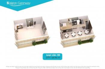 Cho thuê nhiều căn shophouse Saigon gateway, Diện tích 63m2 giá 16 triệu LH 0913212198