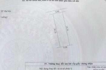 Bán đất sổ đỏ chính chủ tại khu tái định cư xã Hiệp Thuận 121m2, LH: 0981114188