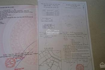 Người nhà cần bán gấp lô đất 522m2, SHR, làm việc trực tiếp chủ, đối diện UBND xã Châu Pha, Phú Mỹ