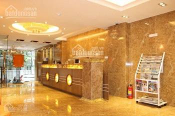 Tòa nhà 9 tầng mặt phố ngang Trần Thái Tông. DT 190m2, MT 13.8m có hầm giá 63.9 tỷ, 0913 80 81 86