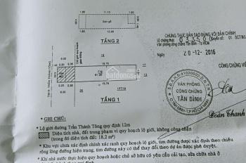 Mặt tiền đường Trần Thái Tông phường 15 Tân Bình 4x20m
