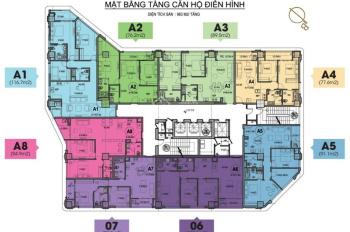 Bán căn góc 2PN A4 tầng đẹp chung cư HDI Tower 55 Lê Đại Hành 6.8 tỷ/77.6m2,CK 100tr,bank 70%