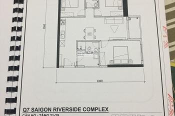 Bán lỗ căn hộ 3PN dự án Q7 Riverside, giá 950tr, LH 0938545808