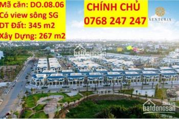 Chính chủ cần bán căn biệt thự đơn lập khu biệt thự nghỉ dưỡng ven sông Sài Gòn, cách sân bay 10p