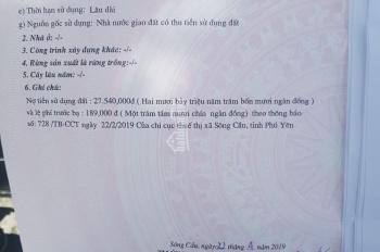 Bán lô đất thổ cư 270m2 xã Xuân Lộc, Sông Cầu