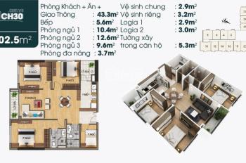 Bán lại giá gốc căn hộ góc số 30, 03 PN, ban công Đông Nam - ĐB, Lotus TSG Sài Đồng, Long Biên