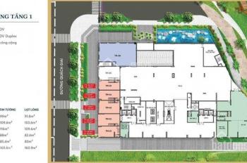 Bán căn shophouse dự án Thủ Thiêm Dragon, liên hệ Mr An 0903606343, DT 88m2, bán giá 63tr/m2