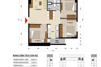 Bán căn hộ Green River Phạm Thế Hiển , DT: 72,94 m2, Giá bán: 1,899 tỷ.Mã căn 02. LH : 0938519087