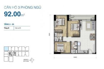 Bán căn hộ Botanica Premier căn 3PN, 96m2, nhà HTCB, giá tốt 4.380 tỷ, gần ngay khu sân bay