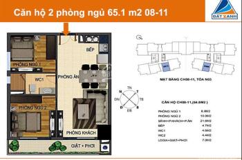 Bán căn hộ 2 PN 65m2 - Berriver Nguyễn Văn Cừ - giá nét 32 triệu/m2 - nhận nhà ở luôn