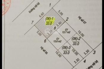 Bán đất tổ 18 phường Thượng Thanh, Quận Long Biên, TP Hà Nội. Diện tích: 33m2, rộng: 3.30m