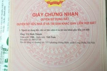 Bán đất tổ 5 Giang Biên - Long Biên - Hà Nội