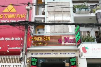 Bán khách sạn 61 đường Trần Thiện Chánh, 4.5x17m. Phường 12, Quận 10