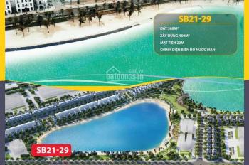 Bán biệt thự đơn lập trung tâm mặt biển hồ nước mặn khu Sao Biển (SB21 - 29), DT 368m2, giá 55 tỷ