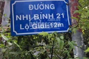 Bán đất 2 MT Nhị Bình 21, DT 8.8x50m, ngay ủy ban xã Nhị Bình, tiện ích đầy đủ. Giá 6 Tỷ
