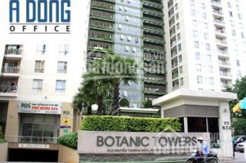 Cho thuê văn phòng Botanic Tower đường Nguyễn Thượng Hiền, Phú Nhuận, DT: 253m2, giá 72,5 tr/tháng
