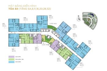 CC bán lỗ 300tr CHCC Sunshine City, 1203-S1 85,9m2 & 1602-S3 106,1m2, giá 35tr/m2, LH O9O6217669