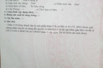 Chính chủ 0906.994.255 - bán rẻ lô đất khu dân cư sông Ông Nhiêu - quận 9 - giá 2.4 tỷ