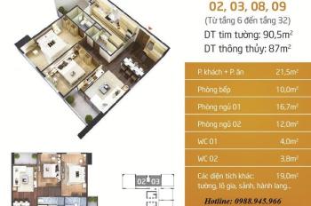 Cần bán gấp CH 87m2 tòa N01T5 Ngoại Giao Đoàn, view Hồ và 13 Đại Sứ Quán