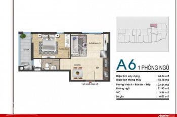 Bán căn hộ 1 PN 45m2, tầng 16, Gold Sea Vũng Tàu, view biển, cách biển chỉ 100m, Lh 0915201313
