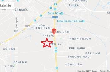 Cần tiền bán gấp đất thổ cư tại tổ 8 Huyền Kỳ, Phú Lãm, Hà Đông. DT 61m2*MT 5m ngõ thông, giá rẻ