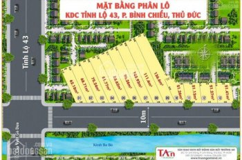 Đất mặt tiền Kênh Ba Bò - Tỉnh Lộ 43, giá cho nhà đầu tư chỉ từ 26,5 triệu/m2, sổ riêng, XD tự do