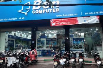 Mặt bằng kinh doanh - Mặt phố Nguyễn Khánh Toàn. Diện tích 100m2 x 2 tầng, MT đường 11m hè rộng