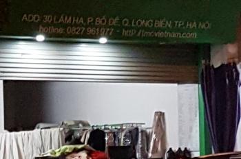 Cửa hàng cho thuê tại phố Lâm Hạ, Bồ Đề, Long Biên, DT 74m2, giá 10 triệu/tháng
