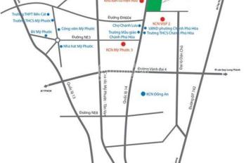 Đất ở đô thị rẻ, giá 300tr/ 80m2 sổ hồng riêng, cạnh KCN visip2 mở rộng LH 0932.136.186