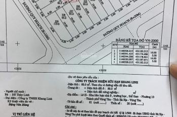 Cần bán đất Khang Linh, vị trí víp, ngay cổng khang linh, p10, tp Vũng tàu