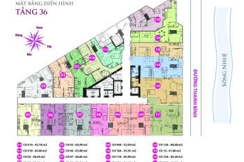 Bán căn hộ Tháp doanh nhân Hà Đông, DT 52,9m2 giá 1,250 tỷ, bàn giao cơ bản, LH 0986324253