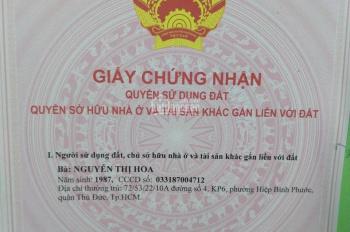 Bán đất chính chủ Linh Xuân, Quận Thủ Đức