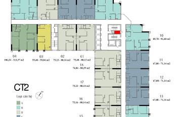 Bán nhanh, cắt lỗ 350tr, căn 1802, diện tích 75m2, CC Eco Green City. LH chính chủ 0931905666