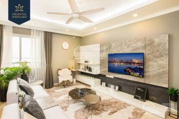 Nhận nhà ở ngay, Oriental Westlake, căn hộ 2 phòng ngủ 91m2, giá 3 tỷ, HTLS 0% 12 tháng, tặng 30tr