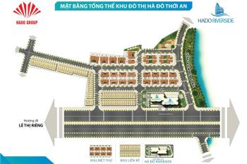 Bán gấp 10 lô đất KDC Hà Đô Thới An, MT Lê Thị Riêng, Thới An Q12 giá 13-15tr/m2. LH 0933125290