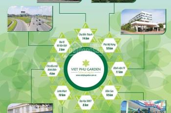 Bán đấT MT KDC Phong Phú 4 (Việt Phú Garden), bao sang tên, chỉ 18tr/m2, SHR, LH: 0922011001 Đạt